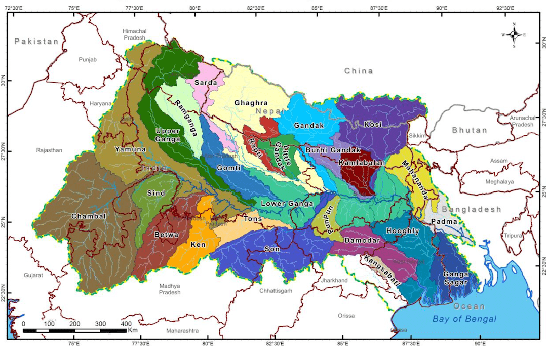 Geographical Context of the Ganga river basin